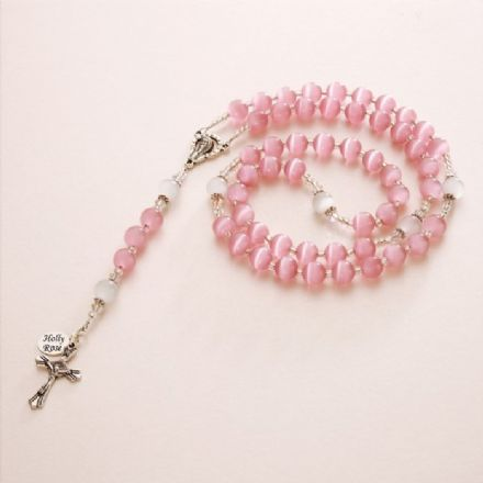 Personalised Rosary with Cats Eye Beads